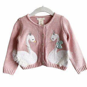 Cynthia Rowley Pink Swan Knit Cardigan